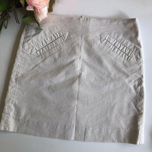 Khaki and white skirt by Grace, size 4 petite